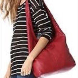 Tory Burch Marion Leather Hobo Handbag